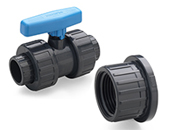 PVC Ball Valves with thread cap BS (Inches)